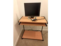Computer Trolley & Monitor