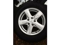"""Mitsubishi 16"""" Alloy wheels with all Terrain tyres - set of 4"""
