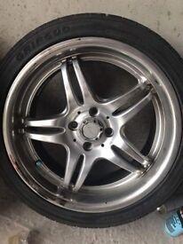 """Koya hurricanes 4x100 17""""inch alloy wheels"""