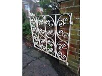 Pair of ornate wrought iron gates