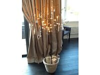 Taupe curtains excellent condition, pencil top