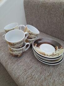 Espresso cup set x5