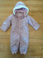 Baby GAP Flower Pattern Snowsuit