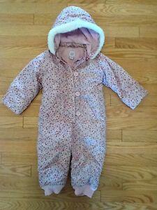 Baby GAP Flower Pattern Snowsuit
