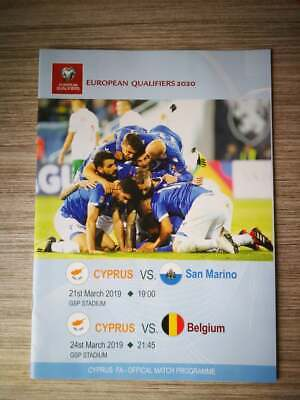 Programme Euro 2020 : Chypre - Belgique / San Marino 24-03-2019