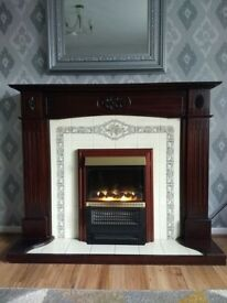 Mahogany Fireplace
