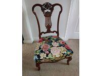 Luxury Antique Victorian mahogany nursing chair
