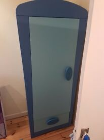 Boy Blue Bedroom : IKEA WARDROBE MAMMUT, matching drawers set, Desk, two bedsides and carpet