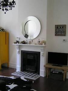 Round Silver Frameless Borderless Modern Mirror Prahran Stonnington Area Preview
