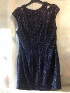 STUNNING 'RODEO SHOW'  SYDNEY SISTINE DRESS IN SPARKLY INK BNWT SZ 12 RRP $259