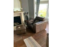 2X Leather Armchairs