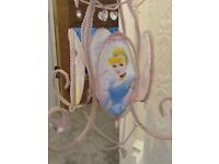 Gorgeous pink Disney princess chandelier style pendant shade