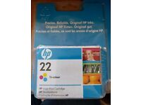 HP 22 ink colour