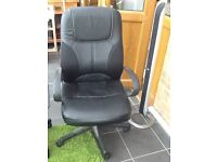 Leather faced office chairs for sale