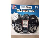 New unopened Snow Trax 2 prs for walking on snow and ice, Men's 7-11