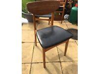 1960's original teak dining chairs