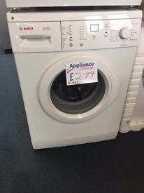 NEW BOSCH 7 KG 1200 SPIN WASHING MACHINE REF: BWAE2
