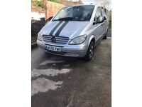 Mercedes vito campervan with driveaway awning