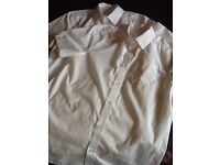 2 Special White School Shirts age 13-14