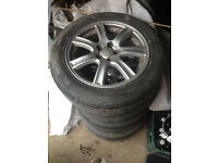 16 inch subaru legacy alloy wheels 5x100