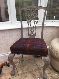 SHABBY CHIC LARGE CHAIR, COST A FORTUNE WHEN BOUGHT, BARGAIN ONLY £45 !
