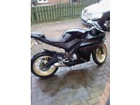 Yamaha YZF-R125 Black, sports exhaust, great bike for starting out