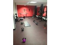 Gym space to rent.