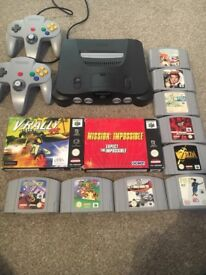 Nintendo 64 N64 games and controller bundle