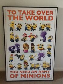Large frame Minions Picture ideal for kids room