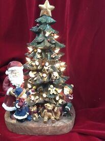 ILLUMINATED CHRISTMAS TREE SCENE