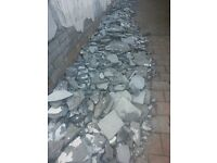 free concrete cement rubble suitable for infill paths or light foundation