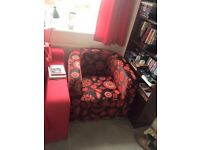3 seater sofa, 2 armchairs, accent chair and foot stool
