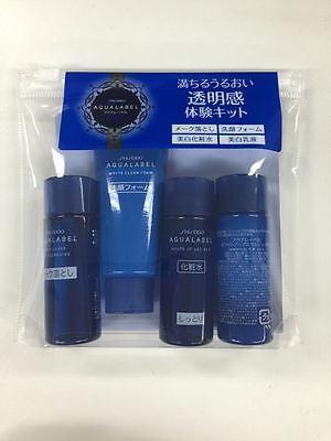 JAPAN Shiseido Aqualabel White Up Set Cleansing oil Foam Lotion Emulsion