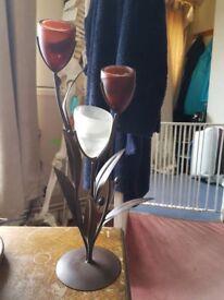 Flower tea light candle stick