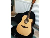 Acoustic electric guitar beautiful condition with case