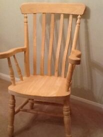 Pine Chair. - large pine arm chair - Carver