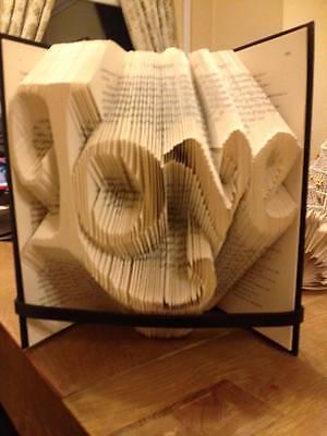 Book Art Folding Pattern Love Fancy Font 300 folds.   #117