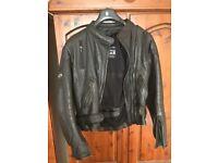 Ladies leather motorbike jacket + gloves