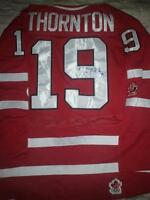JOE THORNTON AUTOGRAPHED TEAM CANADA JERSEY