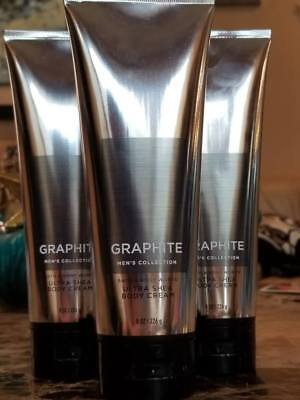 3 Bath & Body Works Men's Graphite  Ultra Shea Body Cream 8 (Graphite Body)