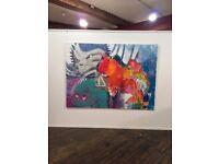 large canvas 2016, acryl, 160cm x 200cm , sign