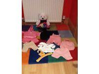 Build a bear bear with clothes bundle