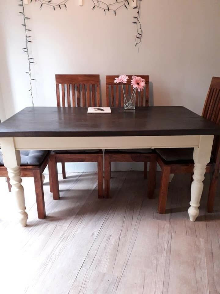 Dining Table Rustic French Farmhouse Style Chairs All Solid Wood Exeter
