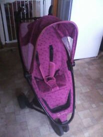 Quinny Zapp pushchair with 2 limited edition fabrics Hot pink marble & Henrik Vibskov Boutique