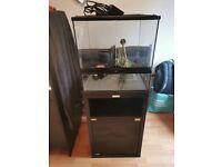 Exo Terra Terrarium, Cabinet, heat mat and thermostat 45x45x45. Reptile, gecko, snake, vivarium