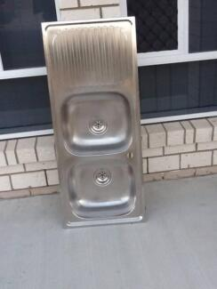 Stainless Steel Double Kitchen Sink Morayfield Caboolture Area Preview