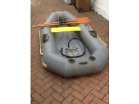 For sale Avon Redstart Inflatable Dinghy with seat, 2piece oars, pump and bags