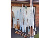 Vintage Oars & Paddles
