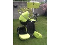 Silver Cross Wayfarer Travel System, Pushchair/Pram, Carry Cot & Simplicity Car Seat, Good Condition
