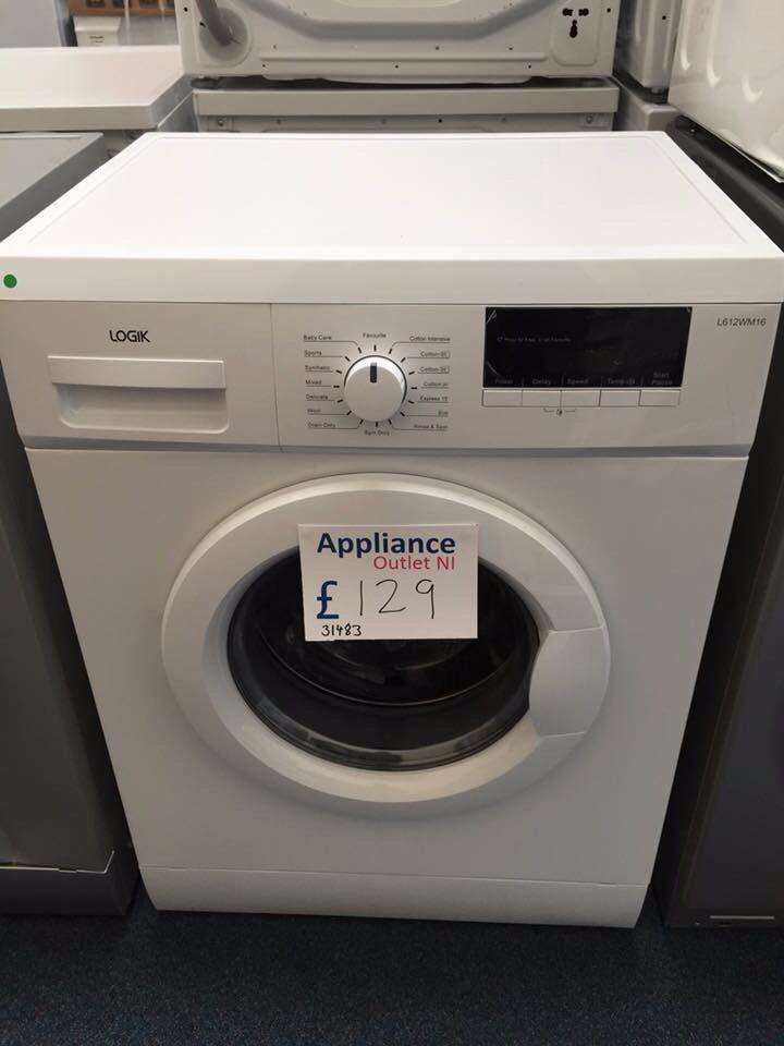 EX-DISPLAY LOGIK 6 KG 1200 SPIN WASHING MACHINE ONLY £129 REF: 31483